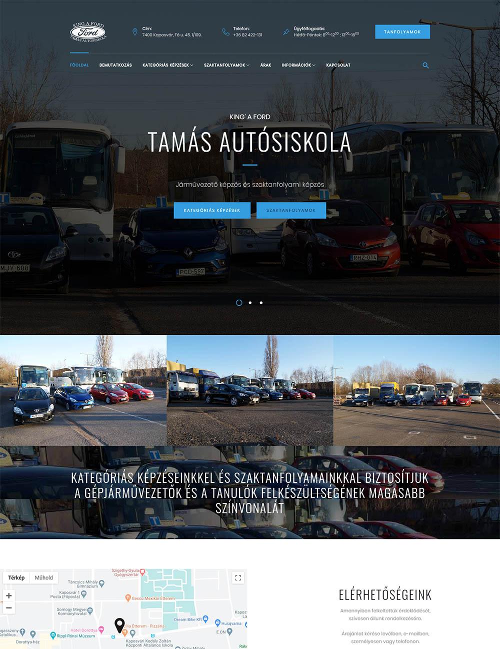 King' a Ford - Tamás Autósiskola Kft.
